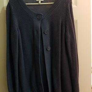 Blue Sweater Jacket